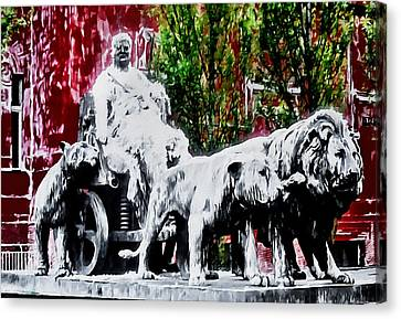 Tarred And Feathered Canvas Print by Barbara D Richards
