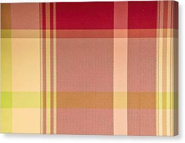 Fall Colors Canvas Print - Tartan Cloth by Tom Gowanlock