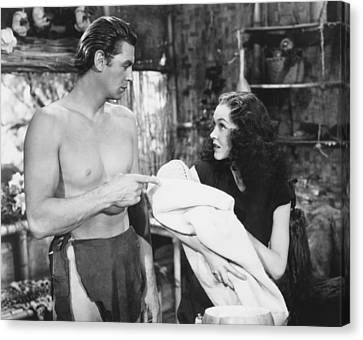 Sullivan Canvas Print - Tarzan Finds A Son, From Left, Johnny by Everett