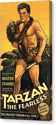 Tarzan The Fearless  Canvas Print by Movie Poster Prints