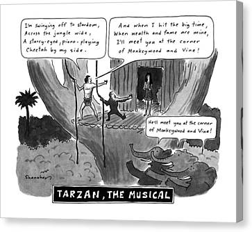 Tarzan The Musical Canvas Print by Danny Shanahan