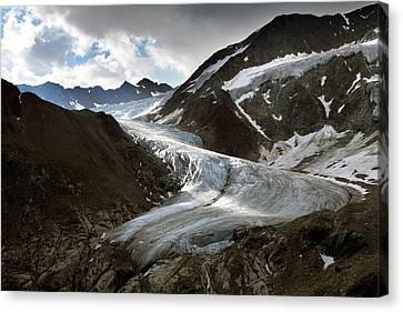 Terminal Canvas Print - Taschach Glacier by Martin Rietze