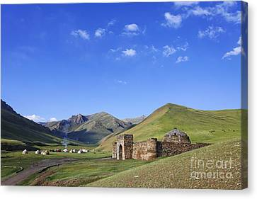 Tash Rabat Caravanserai In The Tash Rabat Valley Of Kyrgyzstan  Canvas Print by Robert Preston