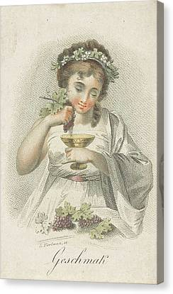 Taste, Ludwig Gottlieb Portman, Schiavonetti Canvas Print by Ludwig Gottlieb Portman And Schiavonetti