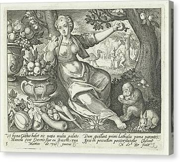 Taste, Nicolaes De Bruyn Canvas Print by Nicolaes De Bruyn