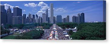 Taste Of Chicago Chicago Il Canvas Print by Panoramic Images