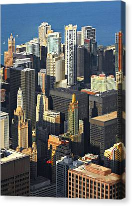 Taste Of Chicago From Above Canvas Print by Christine Till