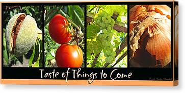 Taste Of Things To Come Photo Collage Canvas Print
