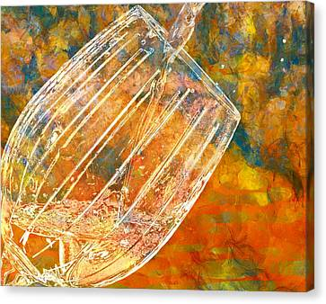 Pouring Wine Canvas Print - Taste The Rainbow by Dan Sproul