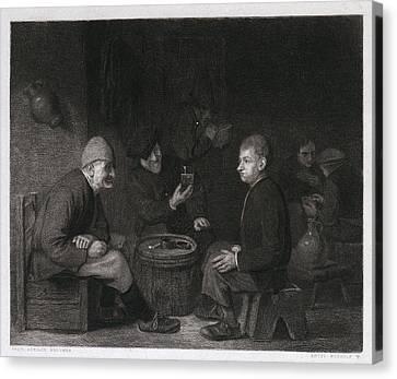 Tasting The Wine, Belgium Canvas Print by Belgian School