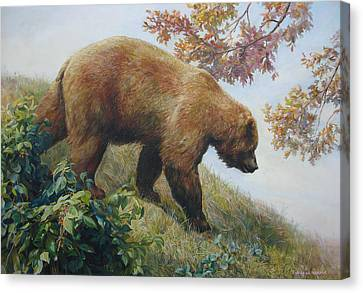 Tasty Raspberries For Our Bear Canvas Print by Svitozar Nenyuk