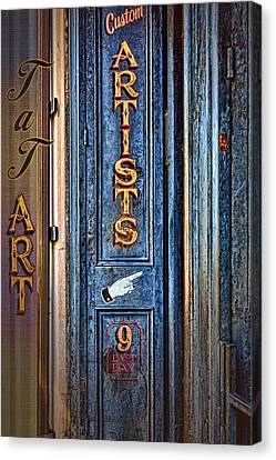 Tat Art Canvas Print by Larry Bishop