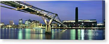 City-scapes Canvas Print - Tate Modern And Millennium Bridge by Rod McLean