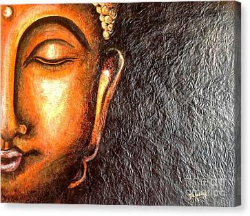 Tathagatha - Serene Buddha  Canvas Print by Kami