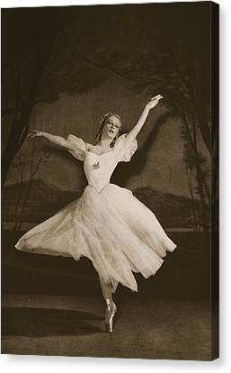 Ballet Dancers Canvas Print - Tatiana Riabouchinska In Les Sylphides by French School