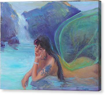 Tatoo Fairy Canvas Print by Gwen Carroll