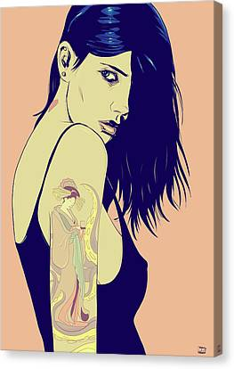 Tattoo Canvas Print by Giuseppe Cristiano