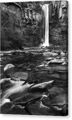 Taughannock Black And White Canvas Print by Bill Wakeley