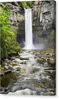 Taughannock Falls And Creek Canvas Print by Christina Rollo