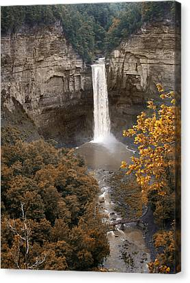 Taughannock Falls Park Canvas Print by Jessica Jenney