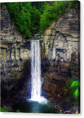 Taughannock Falls Ulysses Ny Canvas Print by Tim Buisman