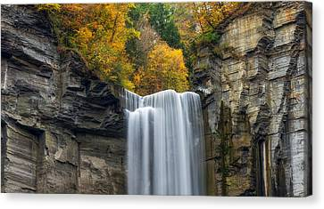 Taughannock Top Canvas Print by Mark Papke