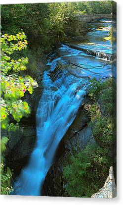 Taughannock Upper Falls Ithaca New York Canvas Print by Paul Ge