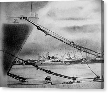 Tauranga Port New Zealand Canvas Print