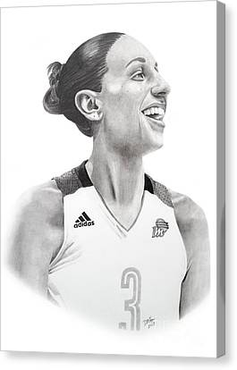 Taurasi Joy Canvas Print by Devin Millington