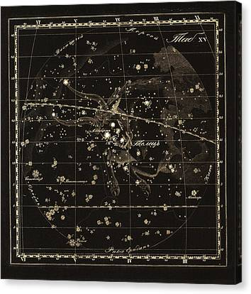 Taurus Constellation, 1829 Canvas Print by Science Photo Library