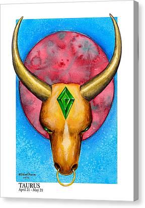 Taurus Canvas Print by Michael Baum