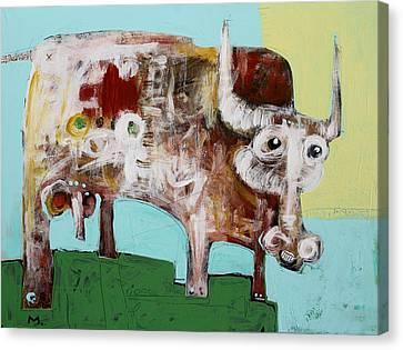 Bulls Canvas Print - Taurus No 4 by Mark M  Mellon