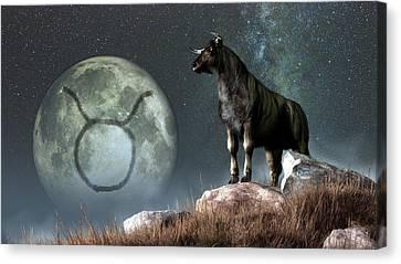 Taurus Zodiac Symbol Canvas Print