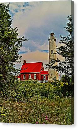 Tawas Point Light Retro Mode Canvas Print