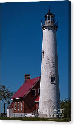 Canvas Print featuring the photograph Tawas Point Lighthouse by Patrick Shupert