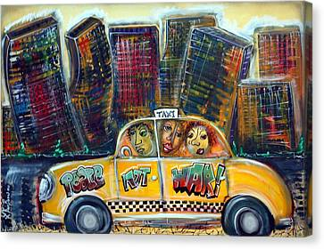 Taxi Canvas Print by Laura Barbosa