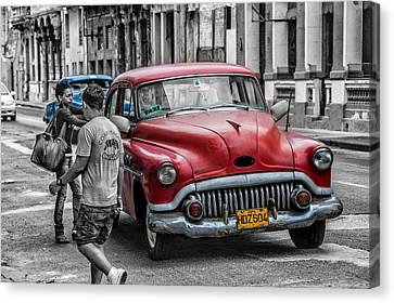 Taxi Canvas Print by Patrick Boening