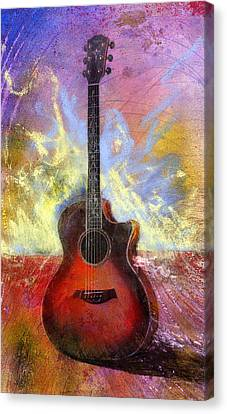 Canvas Print featuring the painting Taylor by Andrew King