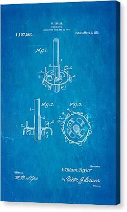 Taylor Egg Beater Patent Art 1916 Blueprint Canvas Print by Ian Monk