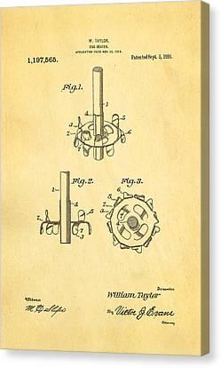 Taylor Egg Beater Patent Art 1916 Canvas Print