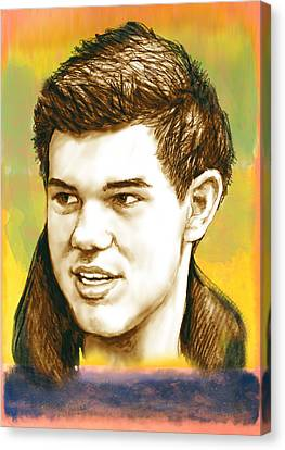 Taylor Lautner - Stylised Drawing Art Poster Canvas Print