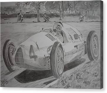 Tazio Nuvolari Canvas Print by Jose Mendez