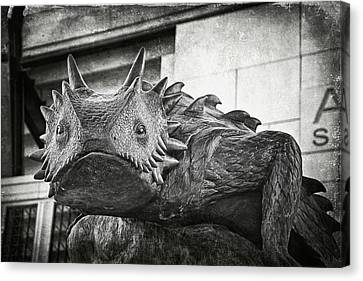 Frog Canvas Print - Tcu Horned Frog 2014 by Joan Carroll