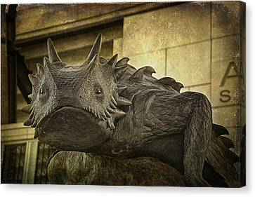 Tcu Horned Frog Canvas Print by Joan Carroll