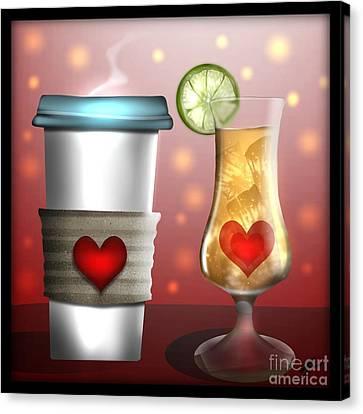 Tea And Coffee Canvas Print