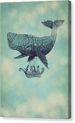 Whale Canvas Print - Tea At Two Thousand Feet by Eric Fan