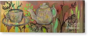 Tea Blossoms Canvas Print by Robin Maria Pedrero