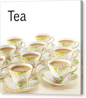 Tea Concept Canvas Print by Colin and Linda McKie
