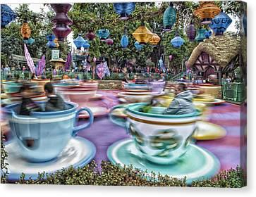 Tea Cup Ride Fantasyland Disneyland Canvas Print