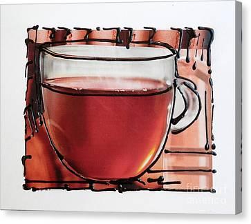Tea Party Canvas Print - Tea For Me by L Cecka